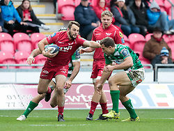 Scarlets' Paul Asquith<br /> <br /> Photographer Simon King/Replay Images<br /> <br /> EPCR Champions Cup Round 3 - Scarlets v Benetton Rugby - Saturday 9th December 2017 - Parc y Scarlets - Llanelli<br /> <br /> World Copyright © 2017 Replay Images. All rights reserved. info@replayimages.co.uk - www.replayimages.co.uk