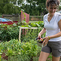 Organic urban farmers, Jami Andersen and Russell Kirchner.