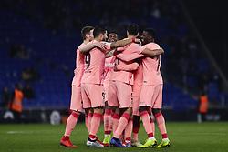 December 8, 2018 - Barcelona, Catalonia, Spain - December 8, 2018 - Cornella- El Prat, Barcelona, Spain - LaLiga Santander- RCD Espanyol v FC Barcelona; FC Barcelona celebrates the victory against RCD Espanyol. (Credit Image: © Marc Dominguez/ZUMA Wire)