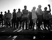 Alluvione a Livorno. Livornesi sul luogo del ritrovo della ragazza dispersa Martina Bechini. <br /> <br /> Livornesi where the body of dispersed girl Martina Bechini was found<br /> <br /> Flood in Livorno. Quartier Collinaia<br /> Livorno 11/9/2017<br /> Daniele Stefanini/Oneshot
