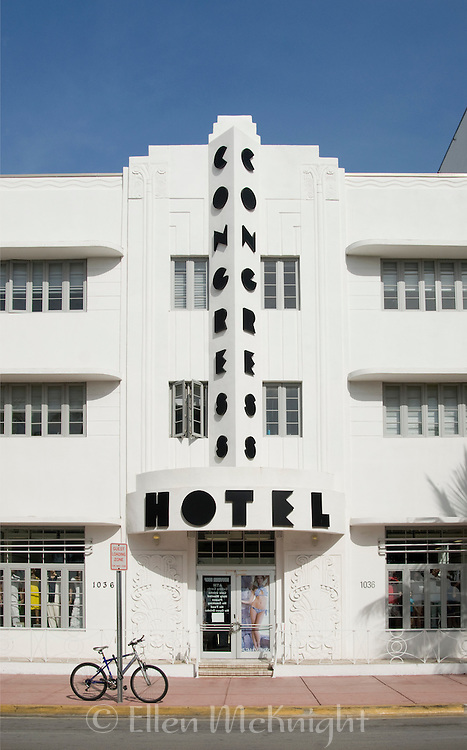 The Congress Hotel is one of the Art Deco style hotels on Ocean Drive in South Beach, Miami. Designed by Henry Hohauser in 1939, it is on the U.S. National Register of Historic Places.