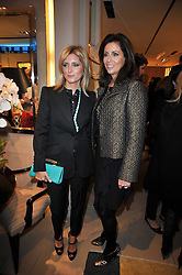 Left to right, PRINCESS MARIE-CHANTAL OF GREECE and PIA MAROCCO at a party to launch the book 'Italian Touch' - A Celebration of Italian Lifestyle held at TOD's, 2-5 Old Bond Street, London on 4th November 2009.
