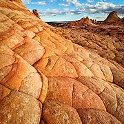 Forget that it's sandstone (if you can) and you can almost believe it is a quilt made of orange shaded fluff.