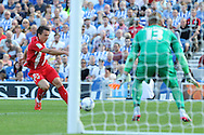 Levgenii Konoplyanka of Sevilla during the Pre-Season Friendly match between Brighton and Hove Albion and Sevilla at the American Express Community Stadium, Brighton and Hove, England on 2 August 2015. Photo by Stuart Butcher.