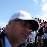Ryder Cup 2016. Spectators watching practice day at the Hazeltine National Golf Club on September 29, 2016 in Chaska, Minnesota.  (Photo by Tim Clayton/Corbis via Getty Images)