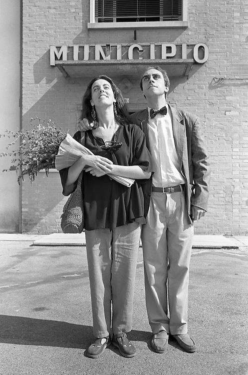 10 AUG 1991 - Marcon (VE) - Michela e Sandro sposi