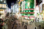 nightly street scene Shinjuku Tokyo Japan