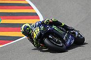 Front wheel starts to go for #46 Valentino Rossi, Italian: Movistar Yamaha MotoGP as he crashes  during the HJC Helmets Motorrad Grand Prix Deutschland at Hohenstein-Ernstthal, Chemnitz, Saxony, Germany on 6 July 2019.