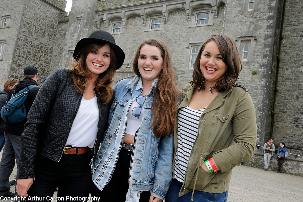 30/5/15 Emma and Lucy Mullen Reynolds with Katie Kierans, Drogheda pictured at Slane Castle in Co Meath. Picture: Arthur Carron
