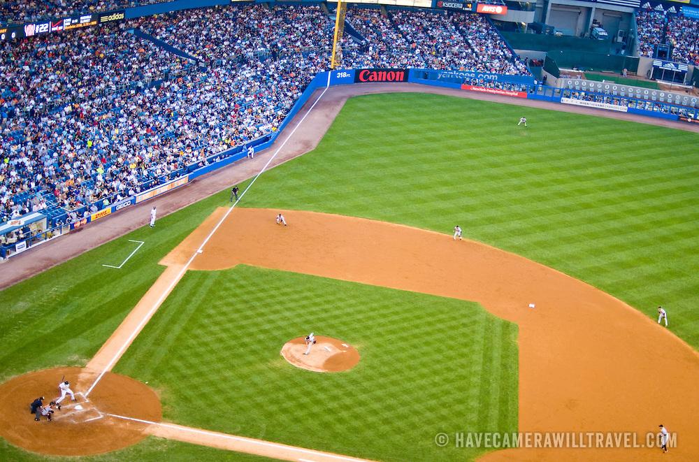 Yankee Stadium, the Bronx, New York City. New York Yankees playing the Baltimore Orioles.