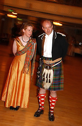 LADY MELISSA EDWARDS and the HON.JOHN DRUMMOND OF MEGGINCH at  the Royal Caledonian Ball held at The Grosvenor House Hotel, Park Lane, London on 5th May 2006.<br /><br />NON EXCLUSIVE - WORLD RIGHTS