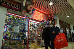© Licensed to London News Pictures. 13/10/2021. London, UK. Shoppers walk past a toy shop in north London. Retailers are warning of toy shortages in the lead up to Christmas, amid fears of ongoing supply chain problems will result in higher prices and empty shelves. Photo credit: Dinendra Haria/LNP