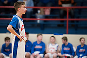 Nicolas Crouse, 13, looks on during a 7th grade basketball game at Durant Middle School in Durant, Oklahoma on January 27, 2017.  (Cooper Neill for The New York Times)