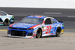 July 21, 2018 - Loudon, NH, U.S. - LOUDON, NH - JULY 21: Chris Buescher, driver of the #37 Kroger Clicklist Chevy during practice for the Monster Energy Cup Series Foxwoods Resort Casino 301 race on July, 21, 2018, at New Hampshire Motor Speedway in Loudon, NH. (Photo by Malcolm Hope/Icon Sportswire) (Credit Image: © Malcolm Hope/Icon SMI via ZUMA Press)