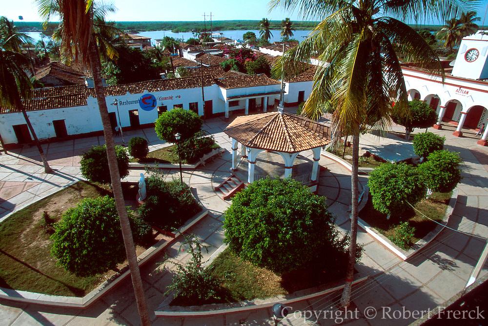 MEXICO, PACIFIC, TEPIC Mexcaltitan, original Aztec home