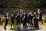 Premiazione Segafredo Virtus Bologna, Coppa, Trofeo<br /> Segafredo Virtus Bologna - A X Armani Exchange Olimpia Milano<br /> Finale Playoff Scudetto Gara4<br /> LBA Legabasket Serie A UnipolSai 2020-2021<br /> Bologna, 11/06/2021<br /> Foto L.Canu / Ciamillo-Castoria