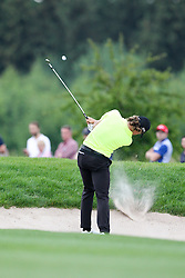 27.06.2015, Golfclub München Eichenried, Muenchen, GER, BMW International Golf Open, Tag 3, im Bild Tommy Fleetwood (ENG) schlaegt aus dem Bunker, Sand // during the day three of BMW International Golf Open at the Golfclub München Eichenried in Muenchen, Germany on 2015/06/27. EXPA Pictures © 2015, PhotoCredit: EXPA/ Eibner-Pressefoto/ Kolbert<br /> <br /> *****ATTENTION - OUT of GER*****