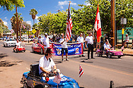 On our first morning in Hawaii we stumble upon this King Kamehameha Day Parade making its way down Front Street in Lahaina, Maui; of course there are Shriners.