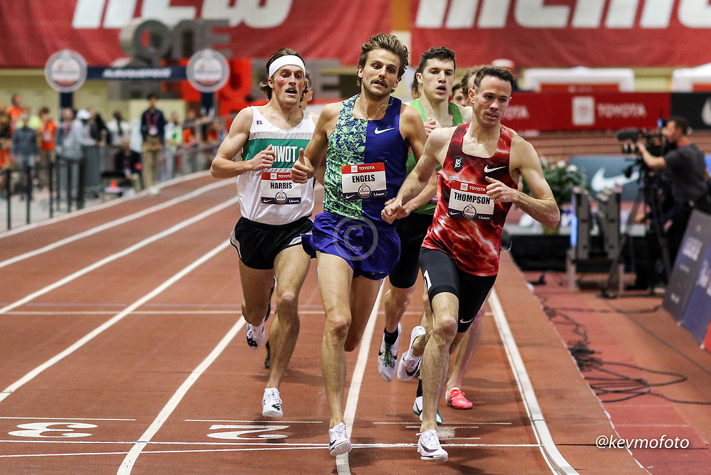 2020 USATF Indoor Championship<br /> Albuquerque, NM 2020-02-15<br /> photo credit: © 2020 Kevin Morris<br /> mens 1500m final, Bowerman TC, Nike