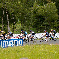 WIJSTER (NED) June 19: <br /> CYCLING <br /> Dutch Nationals Road U23 up and around the Col du VAM<br /> Chasing group on the VAMberg