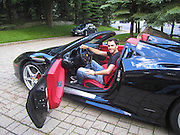 Young man in a Ferrari 458 Italia
