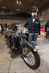 Takuya Yonezawa of Bull Original at the 26th Annual Yokohama Hot Rod and Custom Show 2017. Yokohama, Japan. Sunday December 3, 2017. Photography ©2017 Michael Lichter.