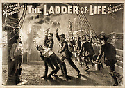Title: The ladder of life a grand spectacular production : a realistic melo-drama. c1897. (poster) : lithograph created and 'copyright 1897 by The H.C. Miner Litho. Co., shows fire fighters in the 1890;s