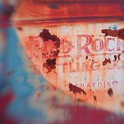 Red Rock Bottling Company Truck Door - Motor Transport Museum - Campo, CA - Lensbaby
