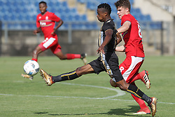 01042018 (Pietermaritzburg) Dias Miguel tries his luck plays with a ball when Royal Eagles played a nil draw against the university of Pretoria yesterday At Harry Gwala stadium.<br /> Picture: Motshwari Mofokeng