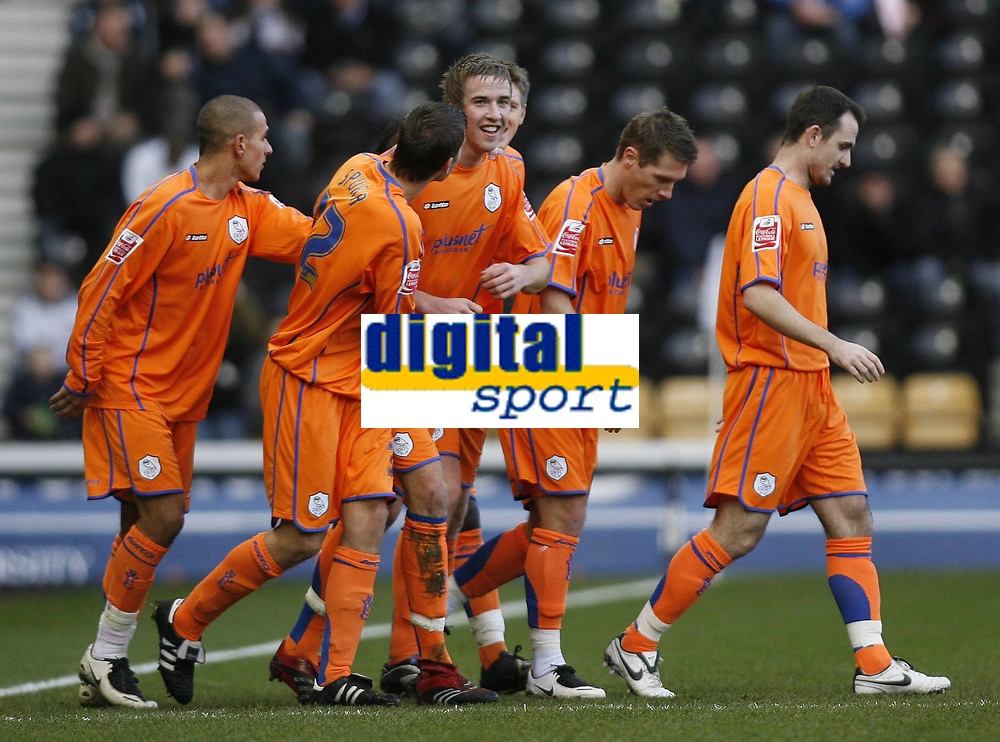 Fotball<br /> 06.01.2008<br /> FA Cup<br /> Derby v Sheffield W<br /> Foto: imago/Digtalsport<br /> NORWAY ONLY<br /> <br /> Torjubel Sheffield Wednesday mit Mark Beevers (Mitte)