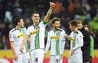 Fotball<br /> Tyskland<br /> 20.02.2016<br /> Foto: Witters/Digitalsport<br /> NORWAY ONLY<br /> <br /> Schlussjubel Granit Xhaka (Gladbach)<br /> Hamburg, 20.02.2016, Fussball Bundesliga, Borussia Mönchengladbach - 1. FC Köln 1:0