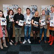 NLD/Volendam/20130208 - Presentatie Helden 17, Jan Smit, Frank de Boer, Frits Barend en Barbara Barend, Stasja Kohler en Simone Heitinga