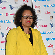 Samira Ahmed attends Women of the Year Lunch and Awards at Intercontinental Hotel Park Lane, London, UK. 15 October 2018.