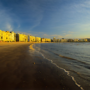South America, Uruguay, Montevideo, beachfront makes this capitol city a summer resort.