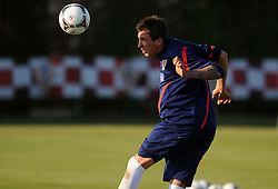 18.05.2012, Brezice, SLO, UEFA EURO 2012, Trainingscamp, Kroatien, 2. Trainingstag, im Bild Mario Mandzukic // during 2nd practice day of Croatian National Footballteam for preparation UEFA EURO 2012 at Brezice, Slovenia on 2012/05/18. EXPA Pictures © 2012, PhotoCredit: EXPA/ Pixsell/ Daniel Kasap....***** ATTENTION - OUT OF CRO, SRB, MAZ, BIH and POL *****