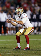 San Francisco 49ers quarterback Christian Ponder (5) waits for the snap in a shotgun formation during the 2016 NFL preseason football game against the San Diego Chargers on Thursday, Sept. 1, 2016 in San Diego. The 49ers won the game 31-21. (©Paul Anthony Spinelli)