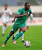 Fotball<br /> Nigeria v Saudi Arabia<br /> Wattens Østerrike<br /> 25.05.2010<br /> Foto: Gepa/Digitalsport<br /> NORWAY ONLY<br /> <br /> FIFA Weltmeisterschaft 2010 in Suedafrika, Vorberichte, Vorbereitung, Vorbereitungsspiel, Freundschaftsspiel, Laenderspiel, Nigeria vs Saudi-Arabien. <br /> <br /> Bild zeigt Chinedu Obasi (NGR)