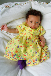 Portrait of young baby girl,