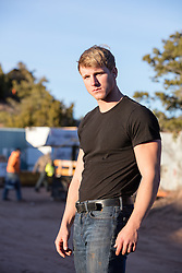 blond man outdoors on a construction site