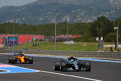 June 22, 2018 - Le Castellet, Var, France - Mercedes 77 Driver VALTTERI BOTTAS (FIN) in action during the Formula one French Grand Prix at the Paul Ricard circuit at Le Castellet - France (Credit Image: © Pierre Stevenin via ZUMA Wire)