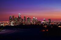 Skyline from Elysian Park at Sunset (2)