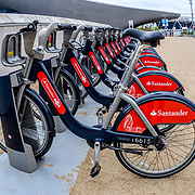 Santander Cycles at the Queen Elizabeth Olympic Park, London, UK. 11 September 2018.
