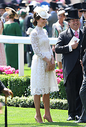 Kate, the Duchess of Cambridge (centre) during day one of Royal Ascot at Ascot Racecourse, London