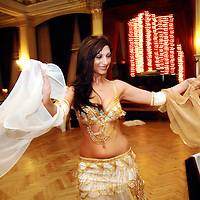 Istanbul, Turkey 05 May 2006<br /> Typical turkish dancer in the Pera Palace Hotel, Istanbul.<br /> Photo: Ezequiel Scagnetti