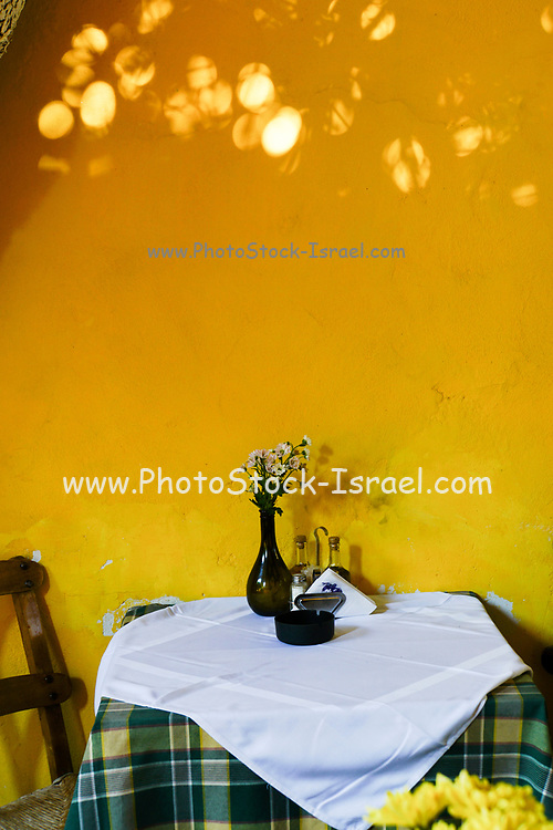 Outdoor dining in Chania, Crete, Greece