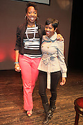 May 2, 2012- New York, United States- (L-R) Nicole Moore, The Hotness.com and Actress Malinda Williams attend the ' Nice with Hers ' Conversation moderated by Nicole Moore, of TheHotness.com in collaboration with Ebony.com held at the Schomburg Center on May 2, 2012 in the village of Harlem in New York City. Nicole Moore speaks with some of the fearless female journalists who wrote the narrative of how the world came to know hip hop, culture, fashion, and itself. (Photo by Terrence Jennings).