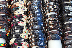 01 August 2014:   McLean County Fair.  A vendor displays jewelry for sale