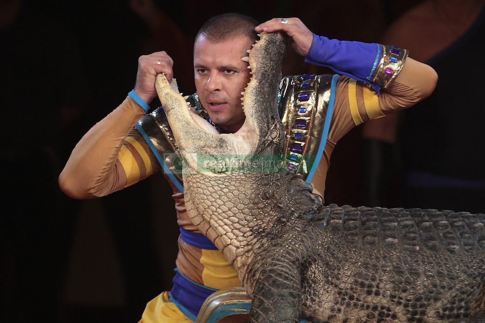 September 15, 2016 - Kiev, Ukraine - The premiere of a new international program of the National Circus of Ukraine ''Extreme Arena' (Credit Image: © Nazar Furyk via ZUMA Wire)