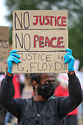 June 3, 2020, London, England, United Kingdom: Demonstrators chant Wednesday, June 3, 2020, at Hyde Park in London, during a protest over the death of George Floyd, who died on May 25 after he was restrained by Minneapolis police in the United States. (Credit Image: © Vedat Xhymshiti/ZUMA Wire)