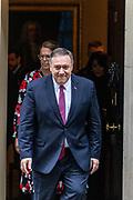 January 30, 2020, London, England, United Kingdom: U.S. Secretary of State Mike Pompeo leaves 10 Downing Street in London, Thursday, Jan. 30, 2020. (Credit Image: © Vedat Xhymshiti/ZUMA Wire)